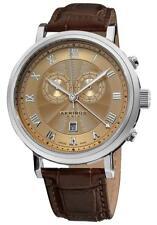 Akribos XXIV AK591SS Swiss Chronograph Date Brown Leather Strap Mens Watch