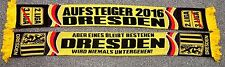 """SCIARPA Dresda """"aufsteiger 2016"""" Ultra Fan Sassonia + Nuovo + 100% ACRILICO + 150x15 cm"""