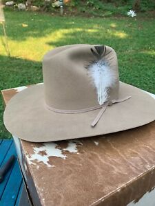 Vintage Bailey Western Cowboy Hat Double Fur Blend 57 Beige EXCELLENT Size 7 1/8