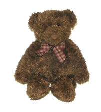 Gund Plush Tan Teddy Bear Lovey Toy 12 inch  40695 Plaid Bow Stuffed Animal