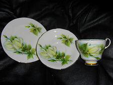 ROSLYN CHINA WHEATCROFT ROSES / VIRGO CUP ,SAUCER BUTTERPLATE ,TRIO IN *AUST*