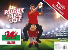 WELSH 6 Nations Rugby Piggy Back Ride On Me Fancy Dress Costume