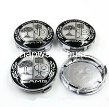 NEW 4X MERCEDES AMG WHEEL RIM CENTER CAPS 75MM SLK280 SLK320 SLK350 SLK55 E400