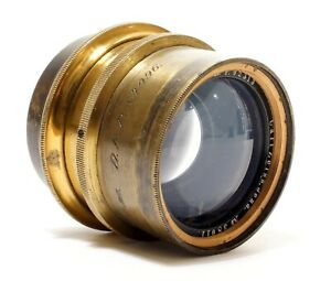 Carl Zeiss Planar F3.8/130 mm Brass Lens | Rare Lens + Mount | Outstanding Lens