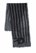 "JOHN VARVATOS Star USA Men Peace Flag Merino Wool Scarf color Grey 24""x80"" NEW"