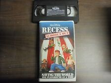 """USED VHS MOVIE Walt Disney """"Recess""""  School's Out"""