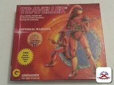 TRAVELLER IMPERIAL MARINES #1001 12pc 25mm GRENADIER LEAD FIGURE SET1983 (C19B1)