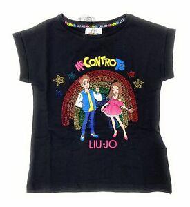 LIU JO ME CONTRO TE Bambina 4B1335 TX190 Black T-Shirt Estate