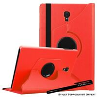 Housse Etui Rouge pour Samsung Galaxy Tab A 10.5 SM-T590 T595 Coque Support 360°