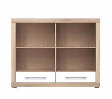 Bigi New Bookcase Shelving Unit drawer storage compartments sonoma oak white