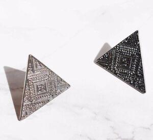 Aztec tibetan triangle earrings studs Boho/hippy/vintage/antique/retro jewellery