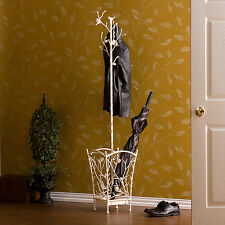 Coat Umbrella Stand Metal Rack Hat Tree Holder Hall Hanger Hook Hooks Storage