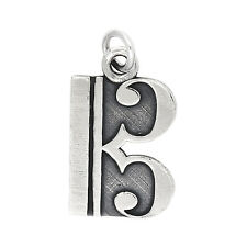 Sterling Silver Oxidized Alto Tenor Music Note Charm