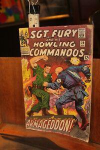 Marvel 1966 Sgt. Fury Howling Commandos No. 29 ROUGH