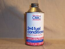 Vintage Johnson Evinrude Fuel Conditioner all metal 12oz cone top Boat Oil Can