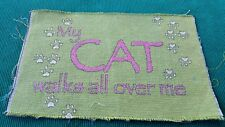 Cats Cat Tapestry Panel Cat Walks All Over Me Unfinish Wall Hang/Pillow Crafter