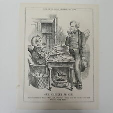 "7x10 ""PUNCH CARTOON 1861 il nostro Armadietto MAKER Palmerston / pace"