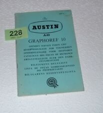 GENUINE AUSTIN A40 OWNERS SPARE PARTS BOOK.