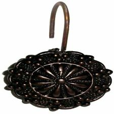 "Carnation Home ""Sheffield"" Resin Shower Curtain Hooks in Oil Rubbed Bronze"