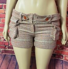 Marciano Women's Dress Shorts Plaid Multicolor Dressy Size S Mojave Desert