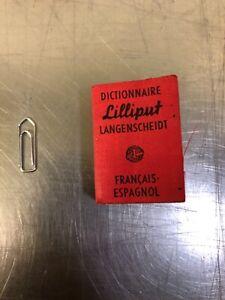 Mini dictionnaire Lilliput Français / Espagnol  Langenscheidt