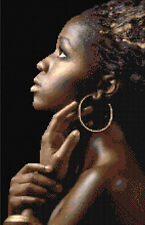 African Beauty Counted Cross Stitch Kit Cultural Art People