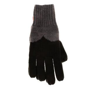 HUNTER ORIGINAL Merino Wool Moustache Gloves Size M / L Melange Effect Two Tone