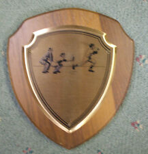 7 x 8 shield baseball plaque trophy vintage style