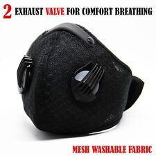 Reusable Protective Face Mask with 2 Valve and filter (Ships out today from USA)