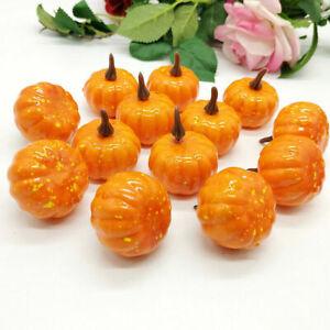 12x Mini Artificial Halloween Pumpkin DIY Foam Props Simulation Party Decor