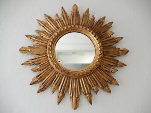 Vintage Italian Gold Gilt Sunburst Starburst Mirror, circa 1940