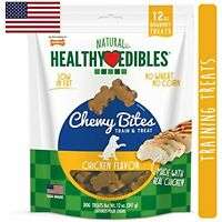Nylabone Healthy Edibles Natural Chewy Bites Soft Dog Chew Treats Chicken 12 oz.