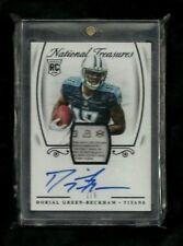 Dorial Green-Beckham National Treasures LAUNDRY TAG PATCH Auto #1/5! 1/1? Titans