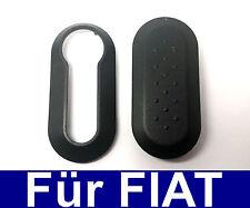 Repuesto Carcasa para Llaves Funda Protectora para Fiat Punto 500 Bravo Negro