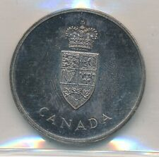 CANADA SILVER CENTENIAL MEDALLION 1967 - ICCS  MS 66