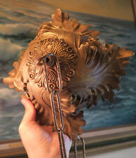 Vintage Ceiling Cap cast Brass Bronze canopy chain lamp chandelier part Rococo