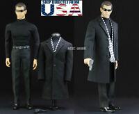 1/6 Agent Coat Suit Set For Matt Damon Jason Bourne Hot Toys PHICEN Figure USA