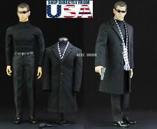 """1/6 Men Agent Coat Suit Set For Matt Damon Jason Bourne 12"""" Hot Toys U.S.A."""