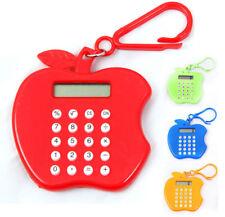 Mini Apple Shape Handy Keyring Home School Office FUN POCKET KEYCHAIN CALCULATOR