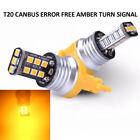 2x Amber T20 7440 Car LED Brake Stop Turn Signal Tail Light 15LED Bulb 9-16.5V