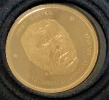 Danbury Mint 14K Gold Presidential Inaugural Medal, 1977 Pres. Jimmy Carter ap