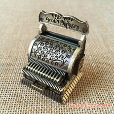 Dollhouse Miniature Copper Carved Old-Fashioned Cash Register 1:12 Scale Model