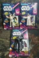 3 BendEms Star Wars Luke Skywalker Princess Leia Darth Vader Figures Topps DJ