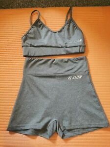 Grey Size 6 Sports Bra And Shorts Workout Co Ord