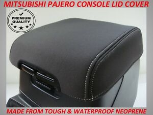 NEOPRENE CONSOLE LID COVER FITS MITSUBISHI PAJERO 2000 - CURRENT ( WETSUIT )