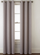 "* Home Expressions Norris 2-Pack Grommet-Top Curtain Panel 76""x63"" Gray NEW"