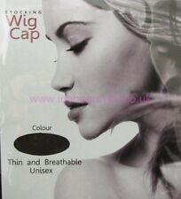 BLACK HAIR NET STOCKING WIG CAP 2PCS/POLYBAG ONE SIZE FIT