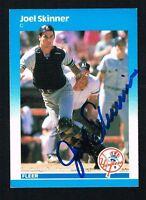 Joel Skinner #115 signed autograph auto 1987 Fleer Baseball Trading Card