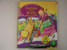 Houghton Curious About Words grade 1 TE 0547154518