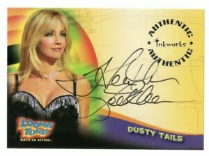 HEATHER LOCKLEAR AS DUSTY TAILS INKWORKS ON CARD AUTO LOONEY TUNES #A4